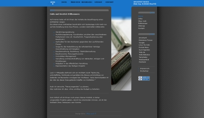 Screenshot des kostenlosen Websitebaker-Templates Architekt