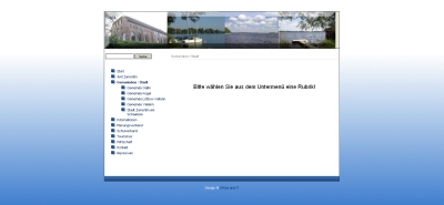 Screenshot des kostenlosen Websitebaker-Templates Blue Business